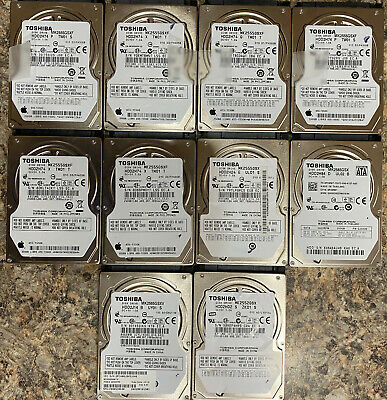 $ CDN112.72 • Buy LOT OF 10 250GB 2.5  Laptop SATA Replacement Hard Drives Toshiba Apple Working