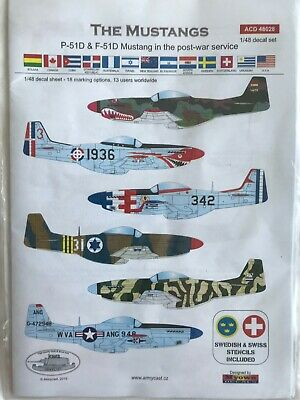 Armycast The Mustangs - P-51D And F-51D Mustang In Post War Service Decals 1/48 • 5£
