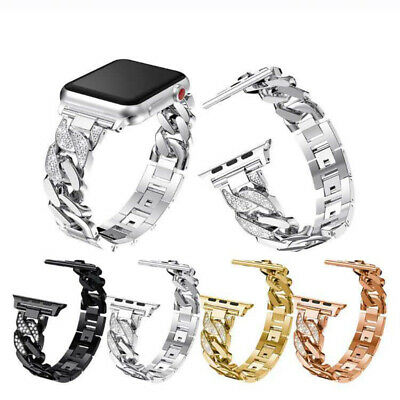 AU17.99 • Buy For Apple Watch Band IWatch Series 6 5 4 3 2 1 Lady Bling Stainless Steel Strap