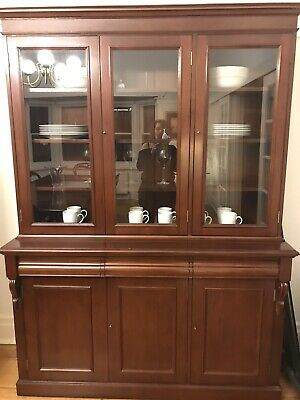 AU899 • Buy Display Cabinet / Bookcase, Solid Mahogany