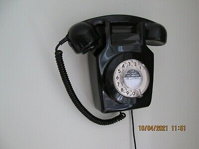 1980 Vintage Black GPO/BT 741 Wall Mounted Telephone - In Perfect Working Order. • 41£