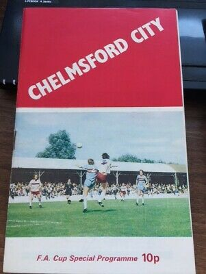 £1.50 • Buy 1972/73 Chelmsford City V Ipswich Town - Fa Cup 3rd Rd.