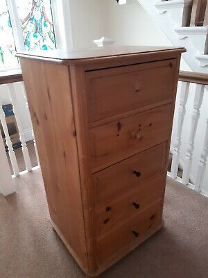 A Solid Pine Tall Chest Of Drawers. For Restoration Up Cycling. • 35£