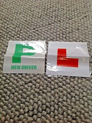 Magnetic L And P Driver Car Plates • 1.50£
