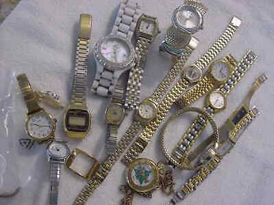 $ CDN12.52 • Buy Lot Of 15 Vintage Antique SEIKO PULSAR + Other Lady Watch Watches