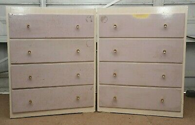 Pair Of 4 Drawer Chest Of Drawers, Upcycle Project • 7.50£