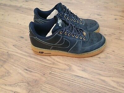 AU8.98 • Buy NIKE AIR FORCE 1 Low Winter Workboot  Black Leather Men's Trainers Size UK 10