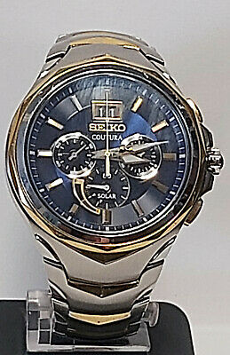 $ CDN150.38 • Buy Seiko Coutura Solar Mens Chronograph Watch194-0AB0 Gents Watch.