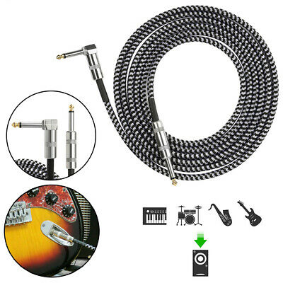 $ CDN14.82 • Buy 10ft NOISELESS Electric Guitar Bass Cable Pedal AMP Cord 1/4