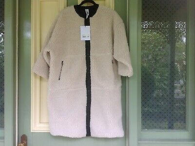 AU150 • Buy M.A.Dainty Puma Cream Winter Coat NWT With Zip Pockets And Press Stud Buttons
