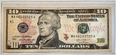 $15 • Buy 2013 Fancy? $10 Ten Dollar Bill 46103725 0-7 Mixed Ladder No Extra Numbers