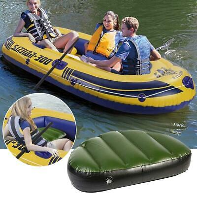 £14.94 • Buy Inflatable Boat Seat Cushion Canoe Tough PVC Comfortable To Sit Waterproof Green
