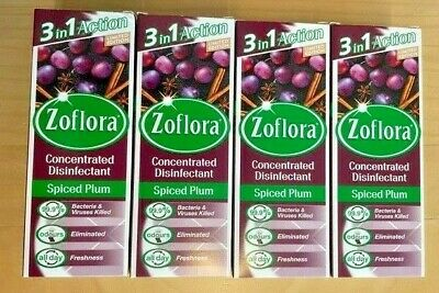 4 X Zoflora Limited Edition Spice Plum 120ml Bottles RARE Hinch Alien • 10.60£