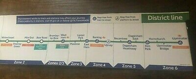 London Underground District Line Map Original Carriage Map • 19.99£