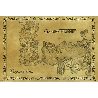 £7.25 • Buy Game Of Thrones Poster Antique Map 211