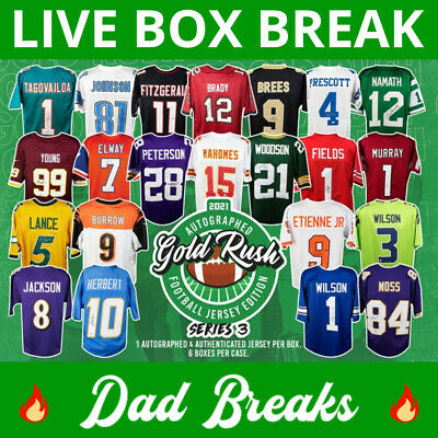 $ CDN1.24 • Buy NEW ENGLAND PATRIOTS Gold Rush Autographed/signed Football Jersey LIVE BOX BREAK