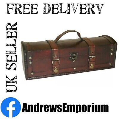 £13.95 • Buy Long Colonial Vintage Wooden Treasure Chest Style Storage Trinket Box Gift Wood