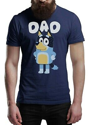 Fathers Day T Shirt DAD DOG BLUEY Men's Fun Gift Novelty Shirt • 11.99£