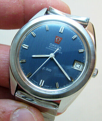 AU577.73 • Buy SERVICED OMEGA ELECTRONIC F300 STAINLESS STEEL TUNING FORK MEN's WATCH