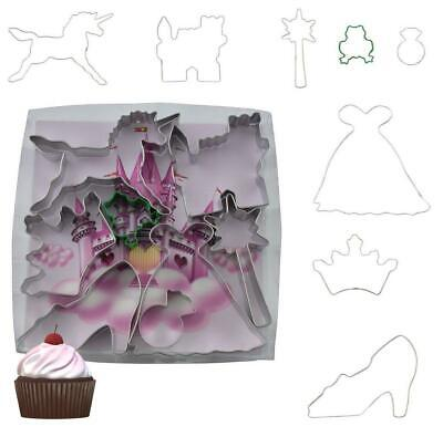 £9.99 • Buy Little Princess Cookie Cutter Set Of 8 Home Baking Girls Tools Kitchen