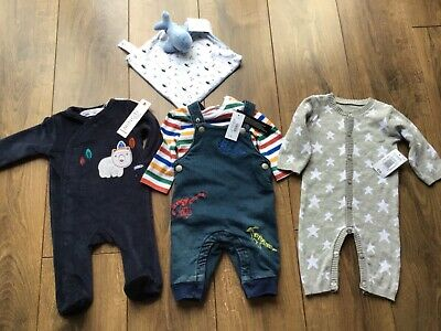 $13.72 • Buy Baby Boy Clothes 0-3 Months Bundle New