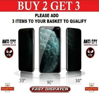 £2.45 • Buy Anti Spy Privacy Tempered Glass Screen Protector IPhone 7 X XR XS Max 11 Pro Max