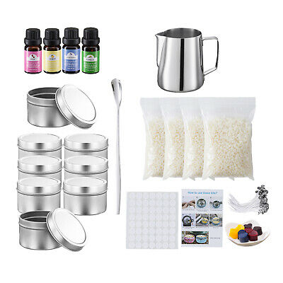 £35.63 • Buy Candle Making Kit Supplies Pitcher Pouring Pot Dyes Tins Fragrance Beeswax