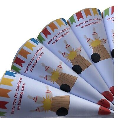 £5.99 • Buy 5 Bowling Party Sweet Cones*Party Bags*Bowling Parties*Children's Parties*