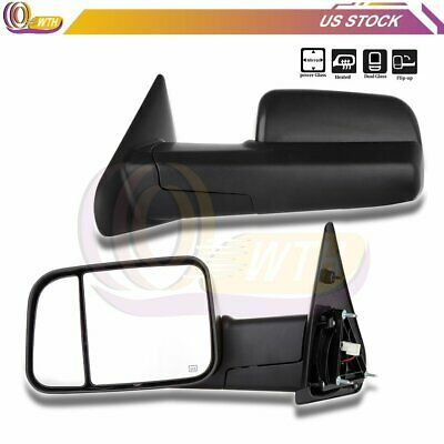 $139.78 • Buy Power Heat Towing Mirrors For 2002 2003 2004 2005-2008 Dodge Ram Left+Right Side