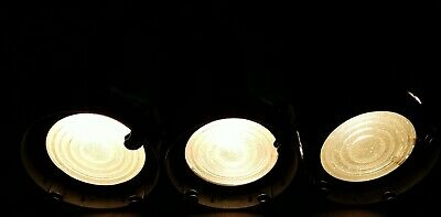 3 Vintage Antique 5 1/2  Fresnel Stage Lights W/ Working Lamps + Mounts & Clamps • 87£