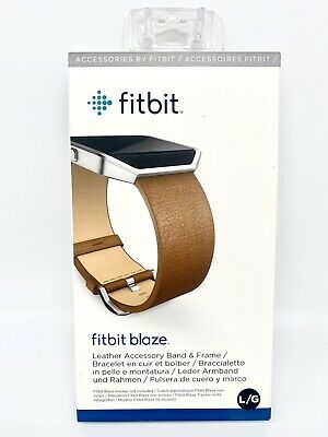 $ CDN18.31 • Buy Fitbit Blaze Leather Accessory Band & Frame, Camel, Large