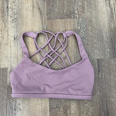 $ CDN44.48 • Buy Lululemon Free To Be Wild Sports Bra Mauve 4 Strappy Yoga