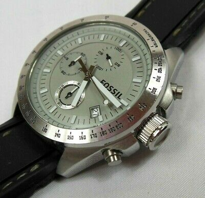 $ CDN8.75 • Buy Fossil Mens Rare CH-2593 Chronograph Rubber/Silicone Band Sports Watch