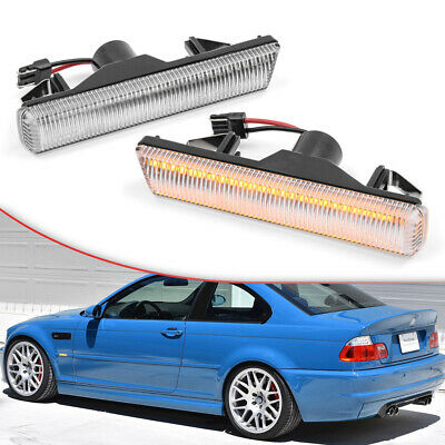 $23.39 • Buy Led Fender Turn Signal Light For 01-06 BMW 3 Series E46 M3 Coupe&Convertible 2pc