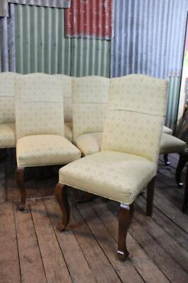 AU395 • Buy A Set Of Eight French Style Timber Upholstered High Back Dining Chairs