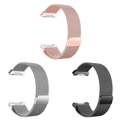 $ CDN12.77 • Buy For Fitbit Ionic Bands Large Replacement Magnetic Loop Strap Stainless Steel Mu