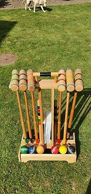 Croquet Set Wooden (With Trolley) 6 Player • 45£