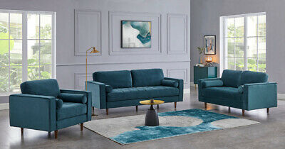 £419.99 • Buy Velvet Sofa 1, 2 Or 3 Seater Luxury Petrol Couch Upholstered Sofa Suite Set