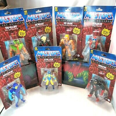 $275.95 • Buy Lot Of 9 Retro Play Mattel Masters Of The Universe Action Figures Tri Klops NEW