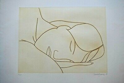 £278.07 • Buy Derrick Greaves (b.1927) Signed, Limited Etching. Female Sleeping. 1980