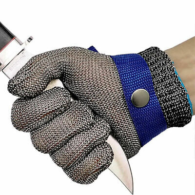 £12.79 • Buy Stainless Steel WireMesh Gloves Cut Resistant Chain Mail Protective Glove Safety