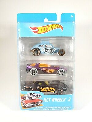 2017 Hot Wheels 3 Triple Car Gift Pack Set VW Beetle Corvette NEW • 10.84£