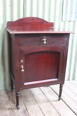 AU345 • Buy An Antique Mahogany Pot Cupboard On Castors- Side Cabinet - Bedside