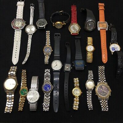 $ CDN9.96 • Buy Lot Of 20‼ Watches FOR PARTS/REPAIR Swatch•Fossil•Casio•Timex•Seiko•Armitron+