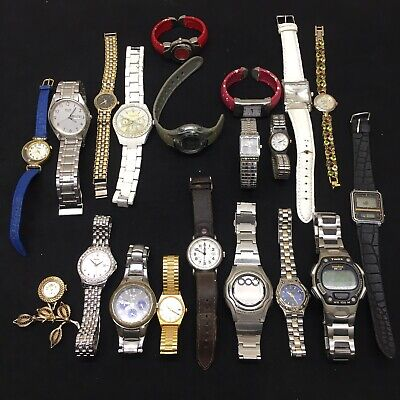 $ CDN9.96 • Buy Lot Of 20‼ Watches FOR PARTS/REPAIR Swiss Army•Relic•Accro•Seiko•Timex•Casio+