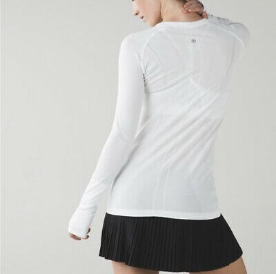 $ CDN85 • Buy Lululemon New With Tags Swiftly Long Sleeve Size 12 White Antibacterial