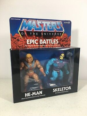 $99.95 • Buy Masters Of The Universe Super 7 Epic Battles He-Man Skeletor 5.5 Inch Filmation