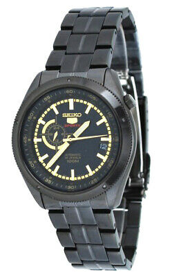 $ CDN212.81 • Buy Seiko 5 Sports Automatic Men 24-Hour Dial Black Stainless Steel Watch SSA071K1