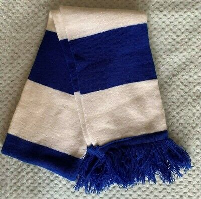 Chelsea CFC Knitted Scarf - Blue And White Stripes - Blue Tassles • 6.50£