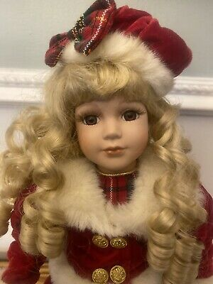 $ CDN31.33 • Buy Dandee 17  Christmas Theme Porcelain Doll The Collectors Choice Series